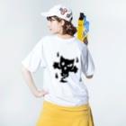 カリツォーの化けにゃんこ Washed T-shirtsの着用イメージ(裏面)