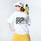 cwgk696deltronの龍角Tシャツ Washed T-shirtsの着用イメージ(裏面)
