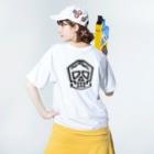 シャレコーベミュージアムのバックプリント Washed T-shirtsの着用イメージ(裏面)