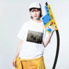 AVEC LES ENFANTSのフランソワミレー シリーズ3 Washed T-shirtsの着用イメージ(表面)