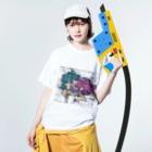 ❔の躁鬱×愛2020 Washed T-shirtsの着用イメージ(表面)