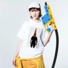 KurumiTamuraのパイロン人間2 Washed T-shirtsの着用イメージ(表面)