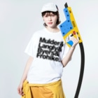SUBURBのThe Lone Gunmen Washed T-shirtsの着用イメージ(表面)