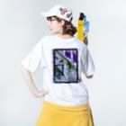 Kazumichi Otsubo's Souvenir departmentの錆びて剥がれて灼熱 ~ パープル Washed T-shirtsの着用イメージ(裏面)