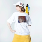 nsnのsad Washed T-shirtsの着用イメージ(裏面)