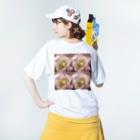 クレヨン君とえんぴつ君のふうりんそう Washed T-shirtsの着用イメージ(裏面)