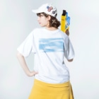 TKCH ONLINE STORAGE B1のWASHED COLORBAR'N'HEAVEN Washed T-shirtsの着用イメージ(裏面)