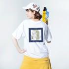 kameのかわいい女の子CDジャケット風 Washed T-shirtsの着用イメージ(裏面)