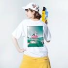 忍者スリスリくんのエンジョイサマー'19 Washed T-shirtsの着用イメージ(裏面)