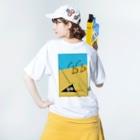 忍者スリスリくんのPOOL SIDE Washed T-shirtsの着用イメージ(裏面)