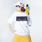 AIM HIGH Product さらなる高みが目指せる品々のdobunomia Washed T-shirtsの着用イメージ(裏面)