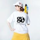 hatomi zuan(SUZURI支店)のgo uncomputed 闇雲 Washed T-shirtsの着用イメージ(裏面)