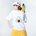 くまのkome Washed T-shirtsの着用イメージ(裏面)