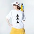 【三角形の穴】の▲5-P【三角形の穴】  Washed T-shirtsの着用イメージ(裏面)
