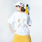 LoveandLikeのLive me Washed T-shirtsの着用イメージ(裏面)
