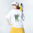 SHOP ROMEO のRomeo greenrogo 02 Washed T-shirtsの着用イメージ(裏面)