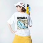 SHOP ROMEO のRomeo My name is mollusca Washed T-shirtsの着用イメージ(裏面)