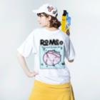 SHOP ROMEO のRomeo My name is nya-chan Washed T-shirtsの着用イメージ(裏面)