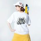Toho-TのSR。 Washed T-shirtsの着用イメージ(裏面)