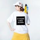 KUKKUの考えすぎも良くない Washed T-shirtsの着用イメージ(裏面)