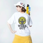 AURA_HYSTERICAのWorkout Washed T-shirtsの着用イメージ(裏面)