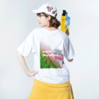 MOMOCHEのStay home.Stay with me . . Washed T-shirtsの着用イメージ(裏面)
