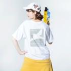 文鳥株式☆会社の文鳥のつばさ 背面 Washed T-shirtsの着用イメージ(裏面)