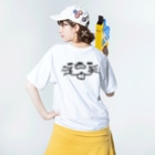 ユッケ@管釣りってなんだ!?秘密結社KTC‼︎の管釣りってなんだ!?ウォッシュTシャツ(バック有) Washed T-shirtsの着用イメージ(裏面)