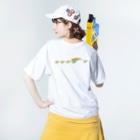 I*Ly / アイリィのレインボーフィン Washed T-shirtsの着用イメージ(裏面)