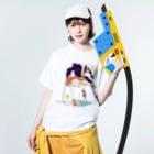 ClowZのストラトキャスター少女 Washed T-shirtsの着用イメージ(表面)