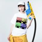 家電凌販 鴫野店の何字路 Washed T-shirtsの着用イメージ(表面)