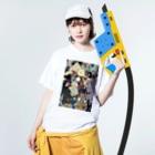 イトスク の妖怪ぱ~てぃ~ Washed T-shirtsの着用イメージ(表面)