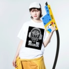 Jackpool の🎧☠️海賊王の舞☠️🎧 Washed T-shirtsの着用イメージ(表面)