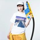 boymeetssheのwash t white / key visual Washed T-shirtsの着用イメージ(表面)