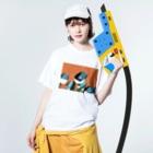 円玉のこういう夢 Washed T-shirtsの着用イメージ(表面)