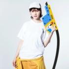 aoioimoiのギター Washed T-shirtsの着用イメージ(表面)