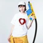明季 aki_ishibashiの美女は横顔で語る Washed T-shirtsの着用イメージ(表面)