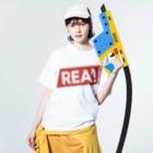 HEJSAN BUTIKEN SUZURIのREA01 Washed T-shirtsの着用イメージ(表面)