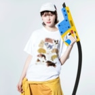 TORIDORI/tamaのこいぬ Washed T-shirtsの着用イメージ(表面)