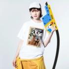 Kazuki Gotandaの潜伏する振動、覆う怪影 Washed T-shirtsの着用イメージ(表面)