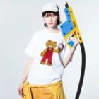 M-kuwaharaのベアー Washed T-shirtsの着用イメージ(表面)