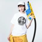 THREE TEA GO.のTHREE TEA GO. KANJI Washed T-shirtsの着用イメージ(表面)