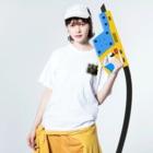 くまのkome Washed T-shirtsの着用イメージ(表面)