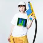 Orihamo TのDISMANAGEMENT Washed T-shirtsの着用イメージ(表面)