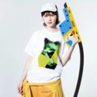 Orihamo TのI wish i was Washed T-shirtsの着用イメージ(表面)