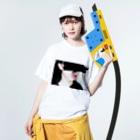 あおはむちゃんのヘルシーサプリ Washed T-shirtsの着用イメージ(表面)