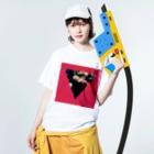 【三角形の穴】の▼5-P【逆三角形の穴】 Washed T-shirtsの着用イメージ(表面)
