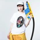 windou330のマンドリン Washed T-shirtsの着用イメージ(表面)