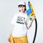 NEKOZE PANDAのツタンカーメンパンダ  Washed T-shirtsの着用イメージ(表面)