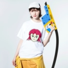 ヒロさんのグッズのタコちゃん Washed T-shirtsの着用イメージ(表面)